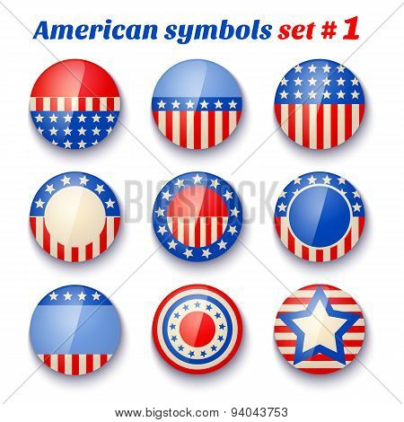 symbols of the USA fof 4th july