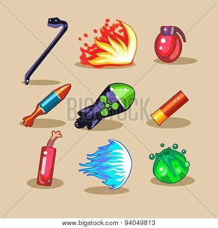 Cartoon Set for Game User Interface