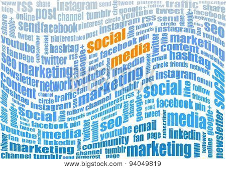 Social Media Marketing Tag Cloud