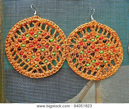 Handmade Orange Earrings