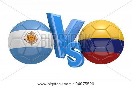 Soccer competition, national teams Argentina vs Colombia
