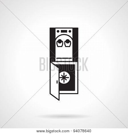 Water dispenser black vector icon