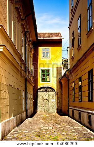 Fragment Of European Street