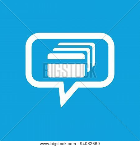 Credit card message icon