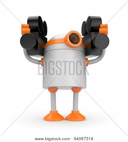 Robot with two cameras