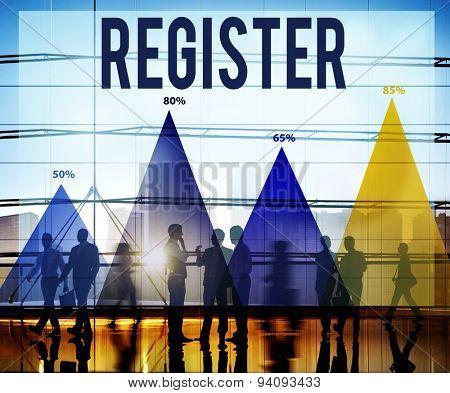Register Application Enlist Join Sign Up Concept