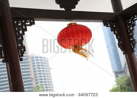 Chinese city red lantern