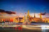 BANGKOK THAILAND - DECEMBER 17: Wat Phra Kaew in Bangkok Thailand on December 17 2014. A Part of the Thai grand palace and the Temple that houses the Emerald Buddha poster