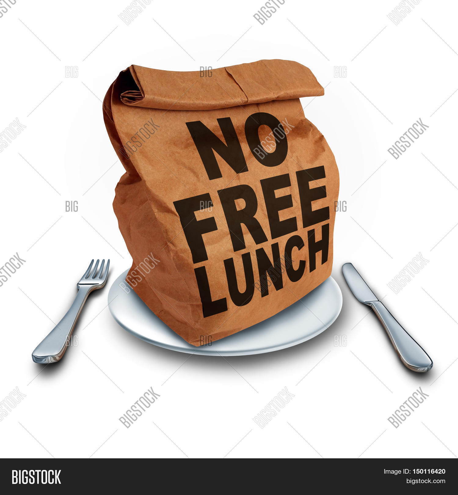 No Free Lunch Business Concept Image Photo Bigstock