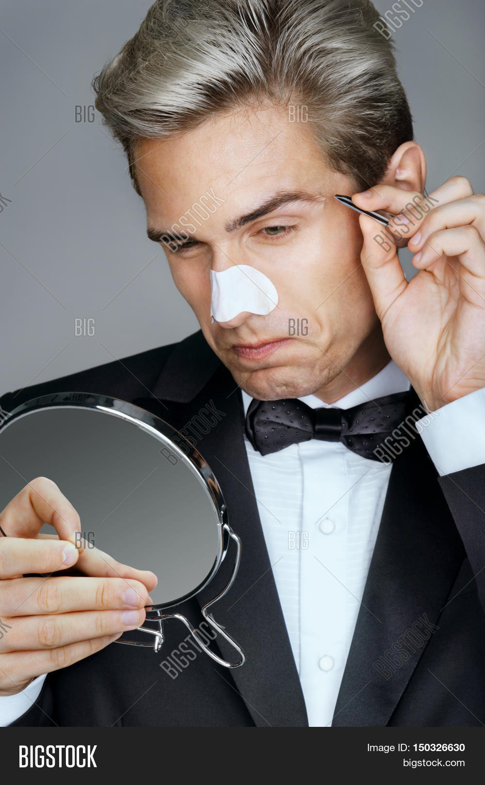 Man Looking Mirror Image Photo Free Trial Bigstock