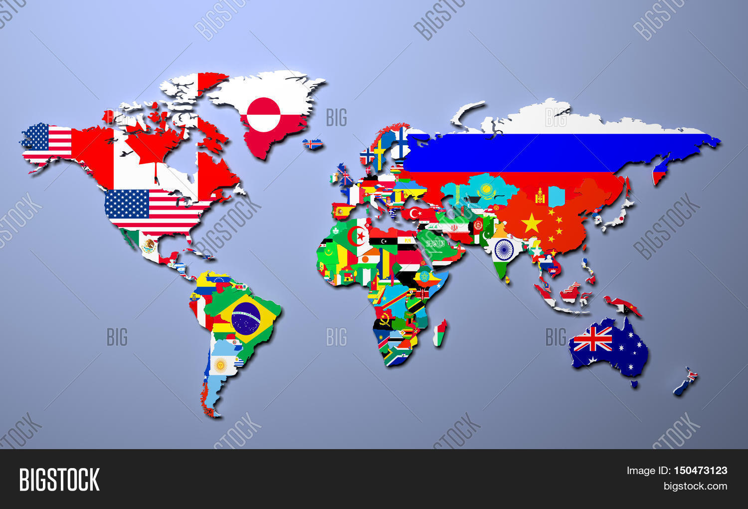 Imagen y foto world map all states their flags 3d bigstock the world map with all states and their flags 3d illustration gumiabroncs Image collections