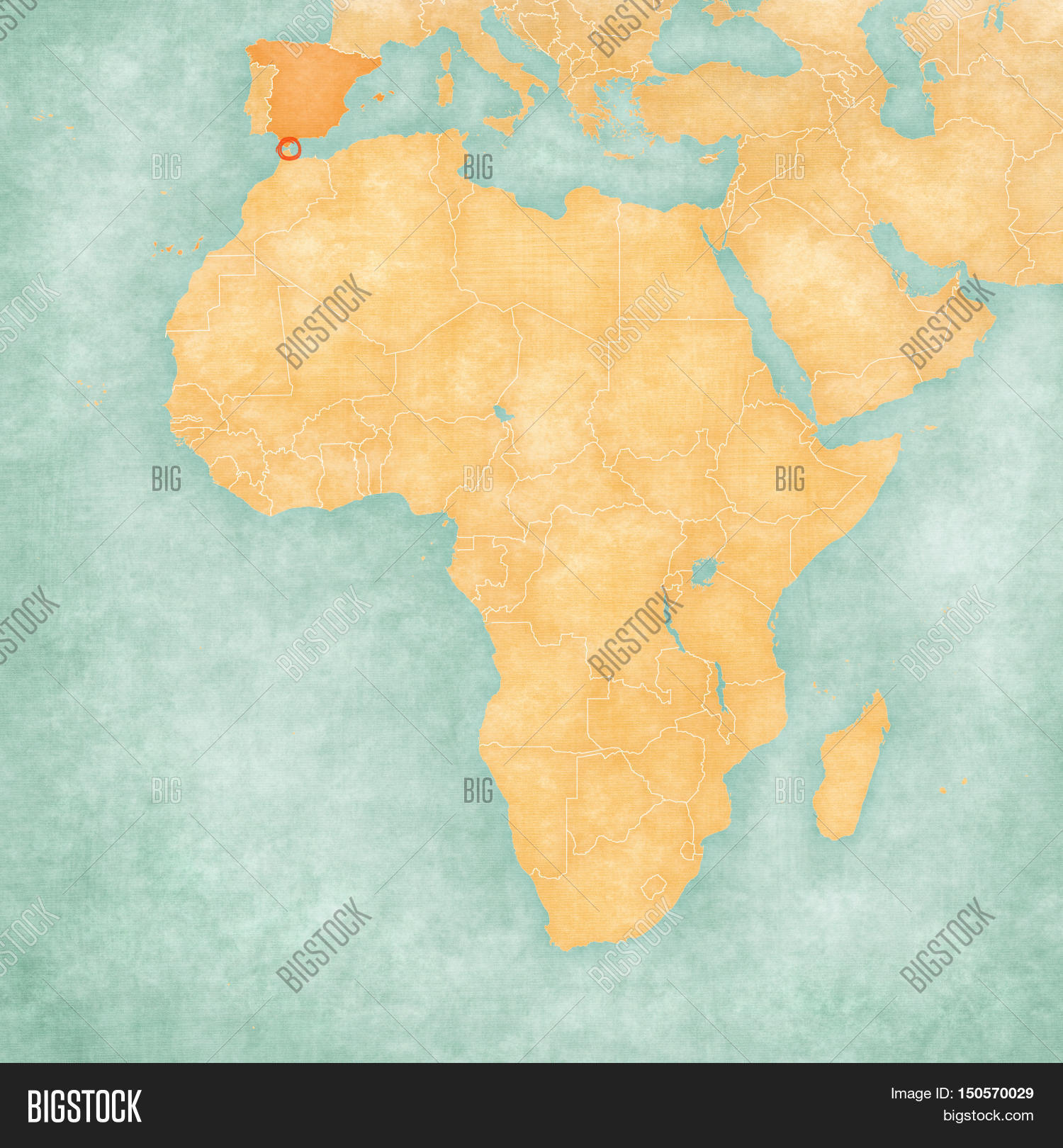 Map Africa - Ceuta Image & Photo (Free Trial) | Bigstock on