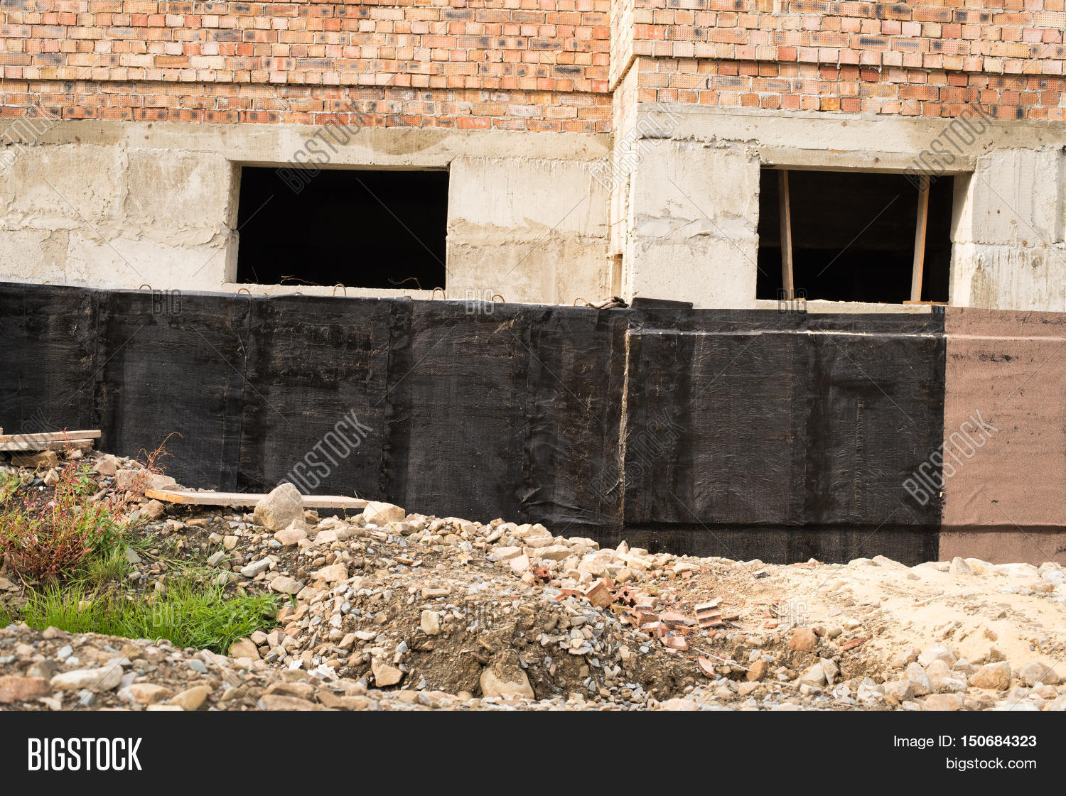 Construction image photo free trial bigstock for Basement construction methods