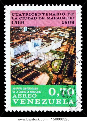 VENEZUELA - CIRCA 1969 : Cancelled postage stamp printed by Venezuela, that shows Maracaibo.