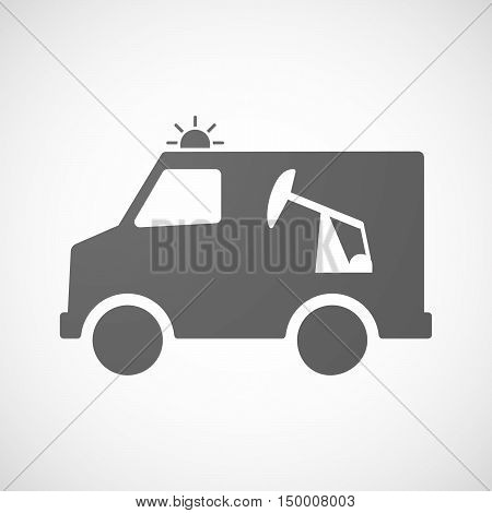 Isolated Ambulance Icon With A Horsehead Pump