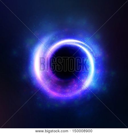 light effect bright isolated object space, a black hole. Magic, sparkles bright, natural effects. Design element glare shining stars