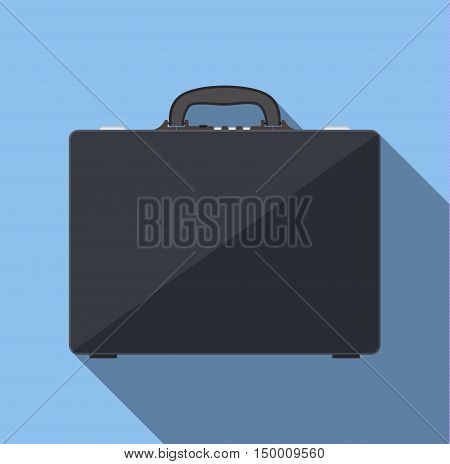 Briefcase business. Briefcase vector illustration in flat style. Briefcase icon. Briefcase isolated on colored background.