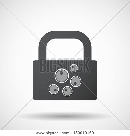 Isolated Lock Pad Icon With Oocytes