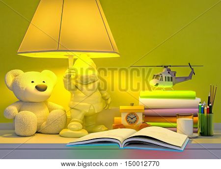 The fairy tale for the baby. 3D illustration