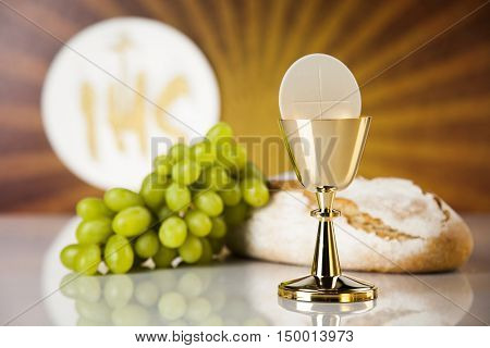 Eucharist, sacrament of communion background