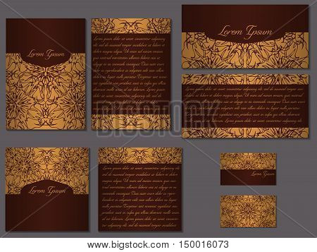Big Elegant Set Of Brochures, Invitations, Fliers And Business C