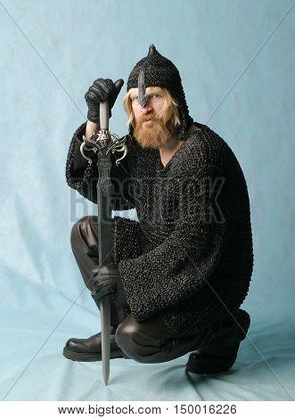 Portrait Of Male Warrior