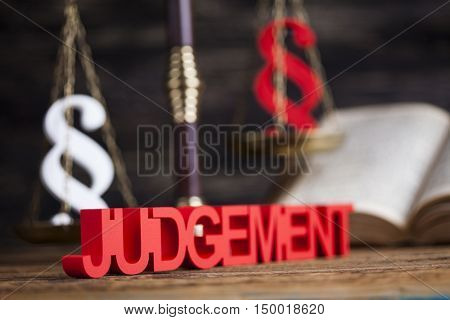 Law wooden gavel barrister, justice concept, legal system concept
