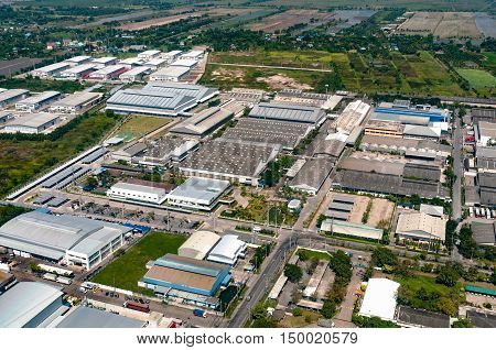 Industrial estate factories warehouse storage facilities and land development