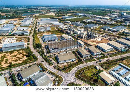Industrial estate heavy industry manufacturer auto manufacturer in Thailand