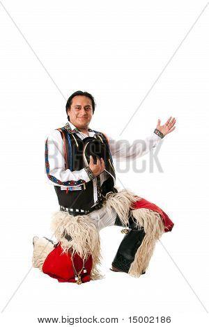 Happy Indiginous Latino Man With Honor