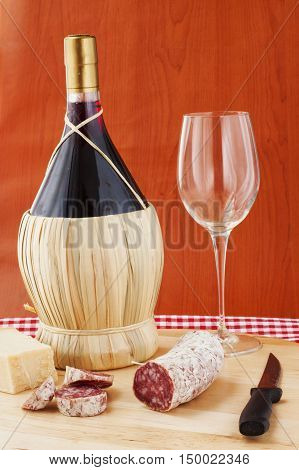 Wine, Sausage And Cheese