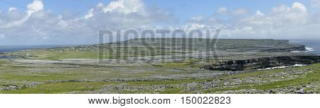 Panorama of Inishmore, the biggest of Aran Island, Galway Bay, Ireland, Europe