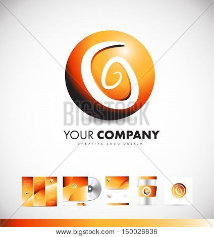 Abstract sphere sign games media vector 3d logo icon sign design template corporate identity