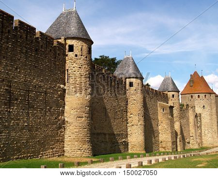 Carcassonne The medieval fortifications of the French town of Carcassonne