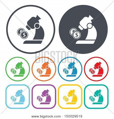 Illustration Of  Microscope Icon In Pattern Style Isolated On Background. Stock Vector Illustration.