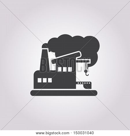 Illustration Of  Factory Icon In Pattern Style Isolated On Background. Stock Vector Illustration.