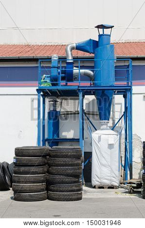 Industrial Dust Collector Of Truck Tire Retread Factory