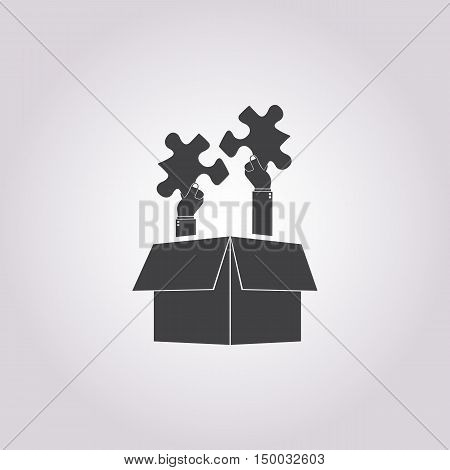 Illustration Of  Teamwork Icon In Pattern Style Isolated On Background. Stock Vector Illustration.