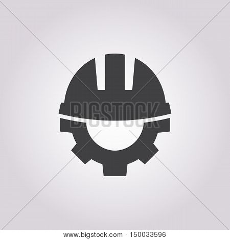 Illustration Of Helmet  Icon In Pattern Style Isolated On Background. Stock Vector Illustration.