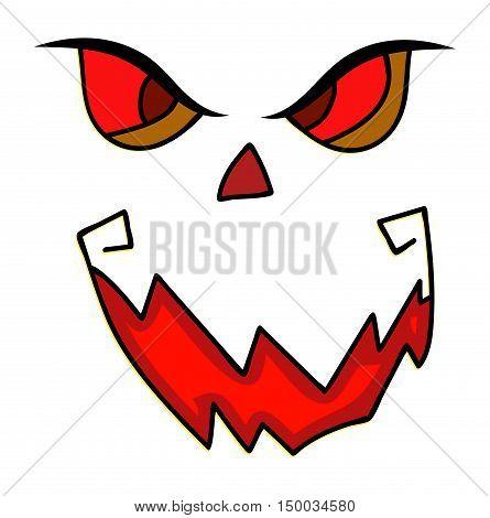Scary, Pumpkin Face Vector Symbol Icon Design