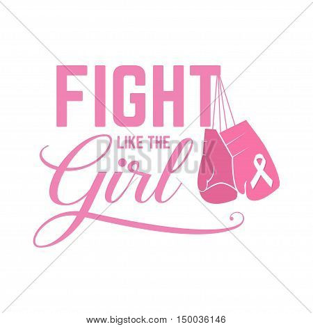 Breast Cancer Awareness Pink Card.