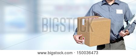 Delivery man with a parcel.