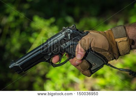 Male Hand With Pistol