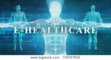E-Healthcare as a Medical Specialty Field or Department 3D Illustration Render