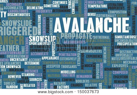 Avalanche Snow as a Danger Concept Art