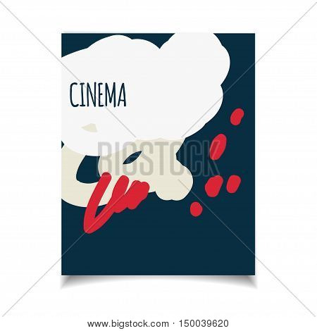 Cinema vector template set. Movie genre theme: action romance comedy drama detective horror fantasy. Colored illustration for posters greeting cards flyers and banners web designs.