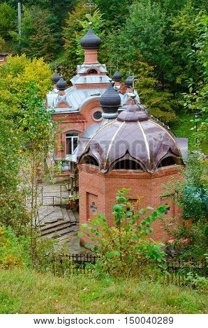 Church-Chapel of Holy Great Martyr Paraskeva and baptismal font Polykovichskaya Krynica Mogilev district Belarus