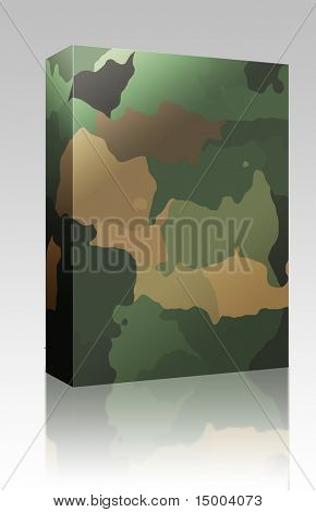 Software package box Camouflage pattern wallpaper texture background abstract illustration