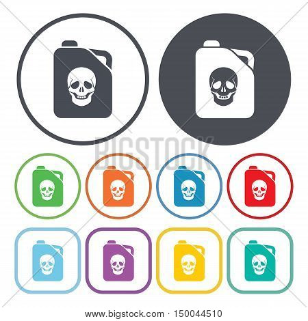 vector illustration of jerrycan icon in simple style isolated on background. Stock vector symbol.
