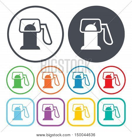 vector illustration of  gas station icon in simple style isolated on background. Stock vector symbol.